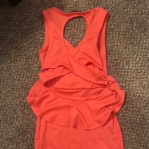 Dresses & Skirts - Coral/peach peplum dress